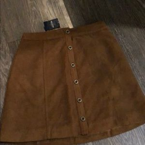 Hollister brown suede skirt